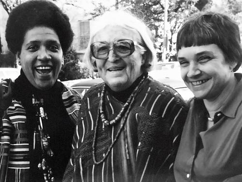 Audre Lorde, Meridel Lesueur, Adrienne Rich, 1980 (Foto von K. Kendall via flickr)