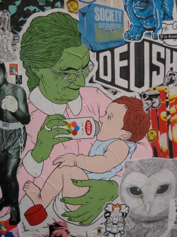 Monster-Mütter füttern Flasche, sagt der Mythos (Foto: fuckermothers)